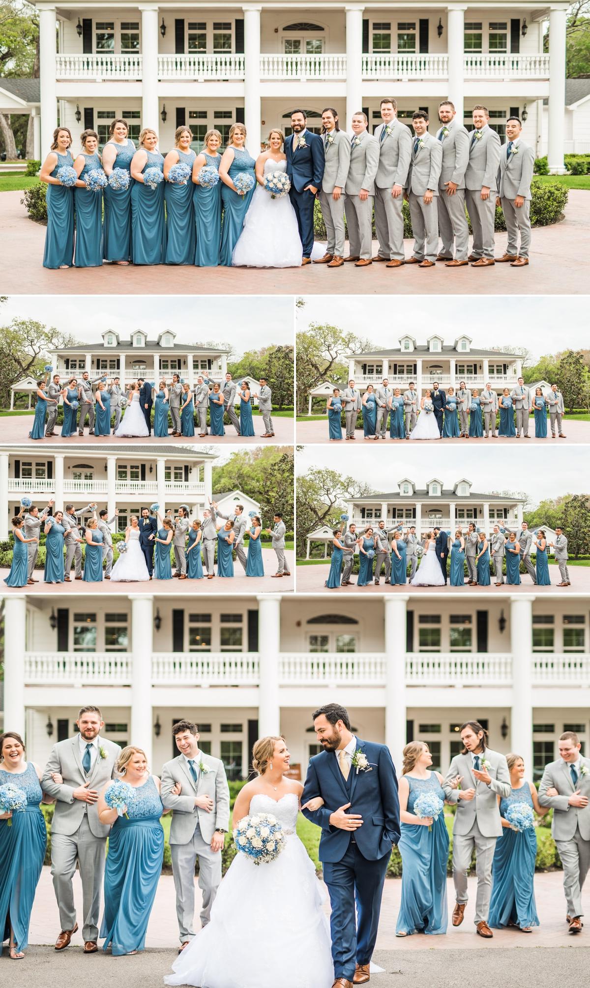 Magnolia manor wedding party portraits