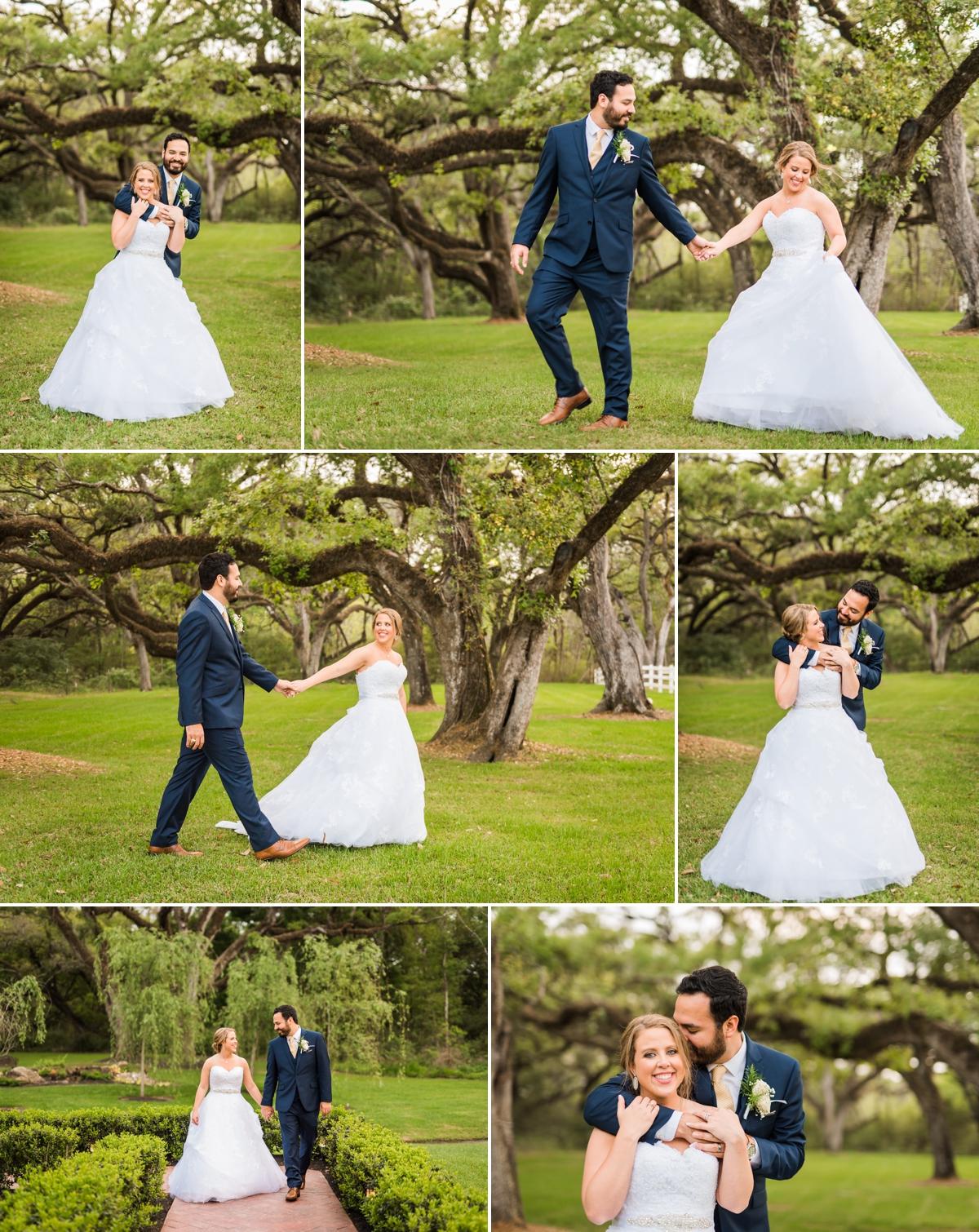 Magnolia Manor Wedding Springs Venue Bride and Groom