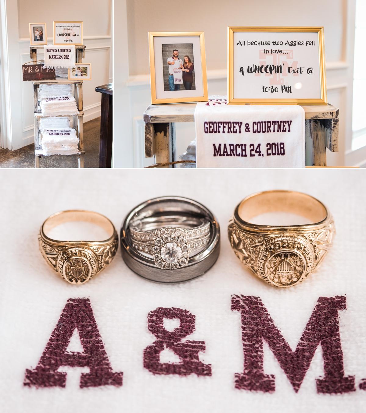 Magnolia Manor Wedding Aggie Texas A&M Wedding