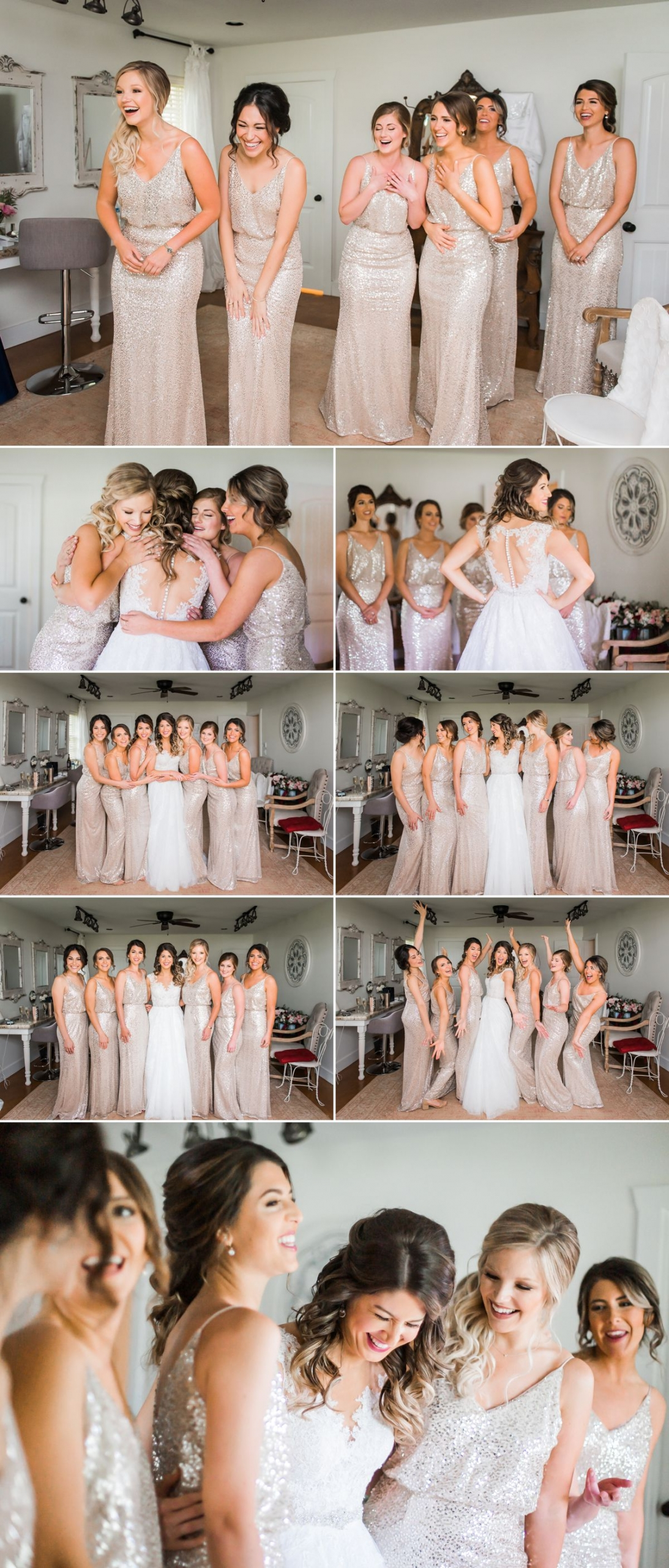 Balmorhea Wedding Dress reveal with Bridesmaids