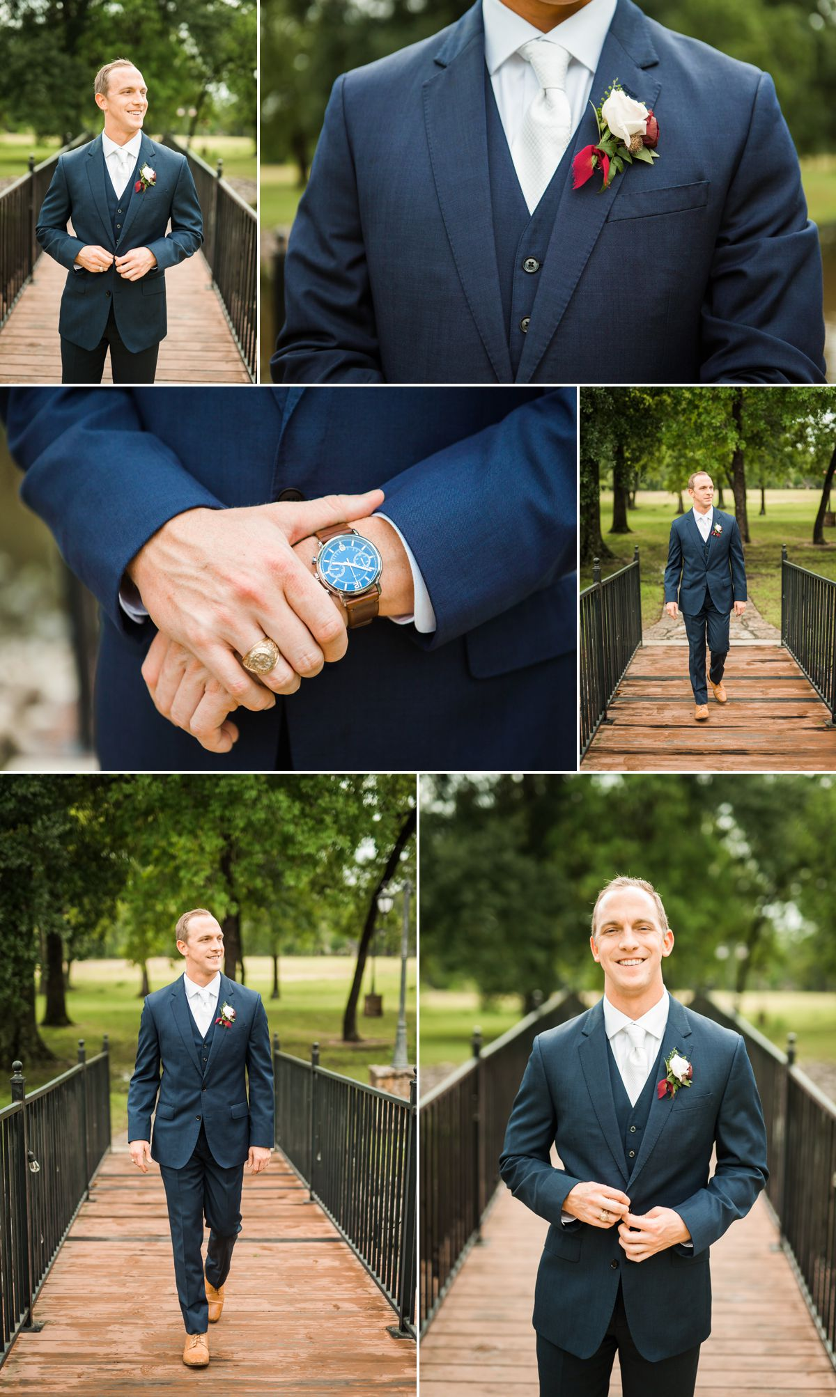 Groom portraits at Balmorhea wedding