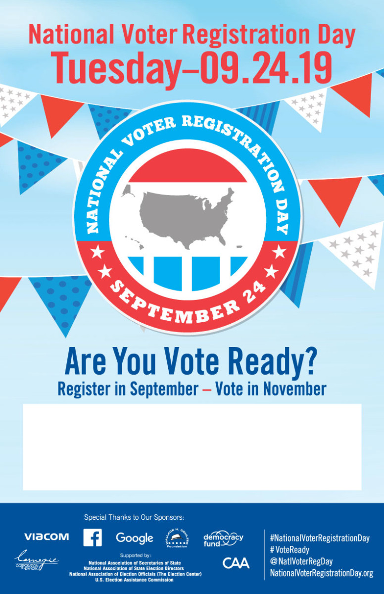 3b61528c The National Voter Registration Day Online Store is Now Open ...