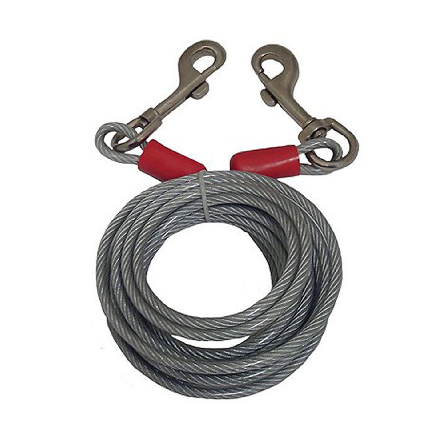 Black Rock 25\' Galvanized Steel Cable with Bolt Snaps Tie down Wire ...