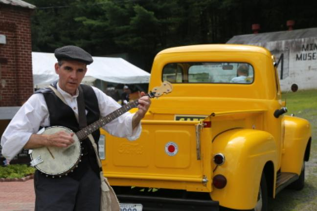 Folk musician Dave Matsinko of Lehighton is one of the featured entertainers at the No. 9 Mine and Museum, along with many other heritage and cultural celebrations throughout the region. DONALD R. SERFASS/TIMES NEWS