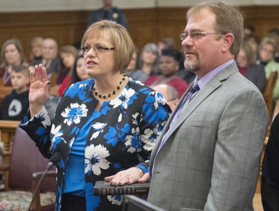 Officials Sworn In During Carbon Ceremony Times News Online