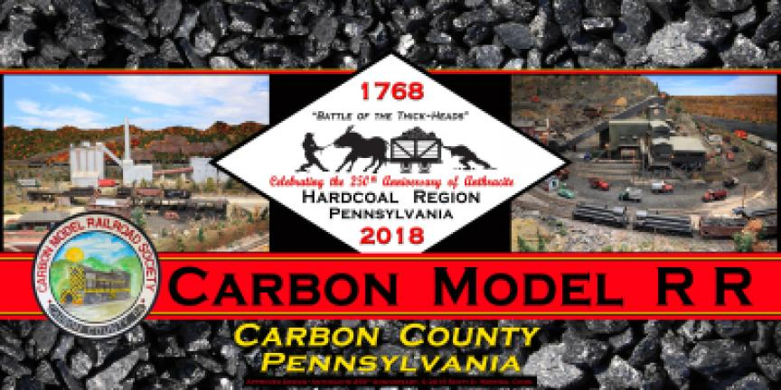 Organizations, clubs, businesses and other groups in northeastern Pennsylvania are ordering custom license plates in honor of the Anthracite 250th Anniversary, such as this one from Carbon County. SCOTT HERRING/SPECIAL TO THE TIMES NEWS