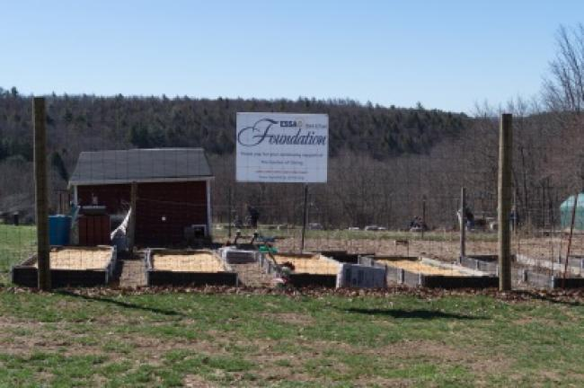 The ESSA Bank and Trust Foundation donated the fence around the property, which was installed last October.