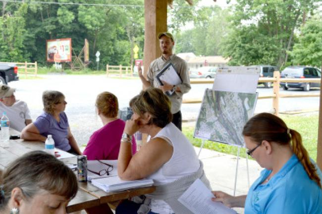 D&L's Trail Manager Brian Greene hosts the first trail town meeting on Saturday in Slatington. KELLEY ANDRADE/TIMES NEWS