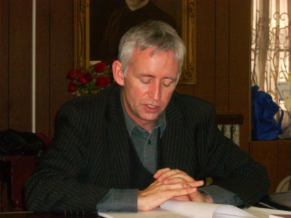 """Grahame Davies reads from his poem, """"Rough Guide."""""""