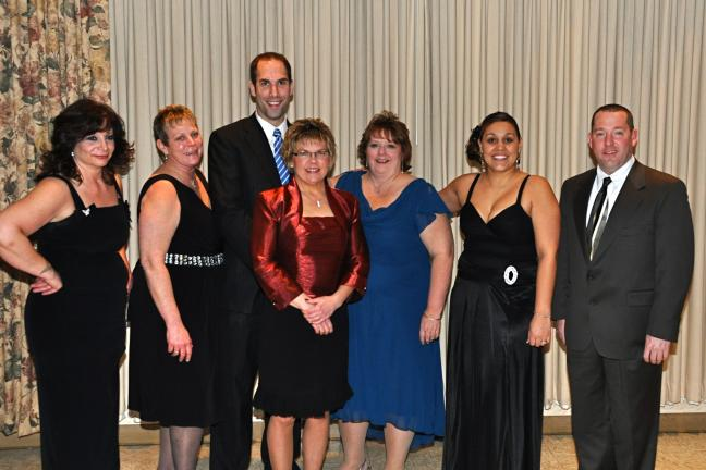 VICTOR IZZO/SPECIAL TO THE TIMES NEWS The members of the Jim Thorpe Policeman's Ball Committee are, left to right : Linda Carlson; Louise McClafferty; Jeremy G. Melber, Chairman; Mia Sebelin; Cindy Kmetz; Jessica M. Nhem, President; and Chief Joseph…