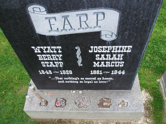 "Wyatt Berry Stapp Earp is buried at the Hills of Eternity, a Jewish cemetery in Colma, California alongside his common law wife Josephine ""Josie' Sarah Marcus. Surprising? Perhaps, but the more one learns about Earp, the more it seems that the Wyatt…"