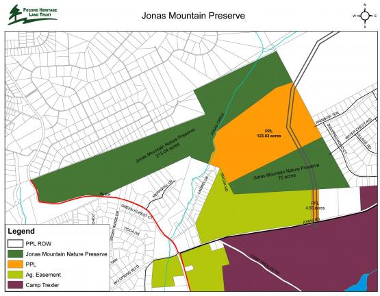 Jonas Mountain Nature Preserve Will Increase In Size By 123 Acres - Us-electric-utility-map