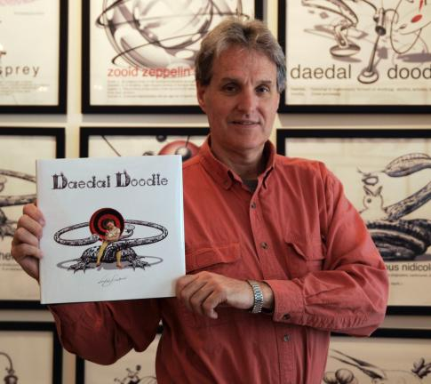 AL ZAGOFSKY/SPECIAL TO THE TIMES NEWS To celebrate the release of Daedal Doodle, a book for word lovers who like to look at pictures, an open-to-the-public free book party is being held for author/illustrator Victor Stabin.