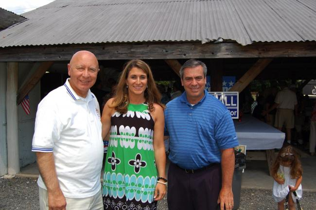 LINDA KOEHLER/TIMES NEWS Left to right, PA State Representatives Mario Scavello and Rosemary Brown and PA State Senator Pat Browne met with their constituents Browne's 2011 Bar-B-Q Bash.