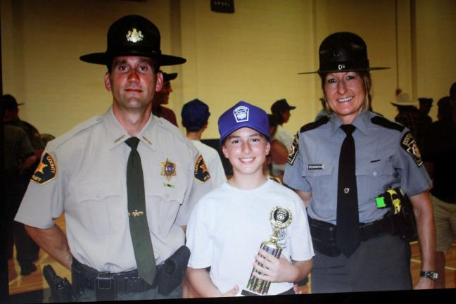 SPECIAL TO THE TIMES NEWS Delana Nalesnik holds the Trooper