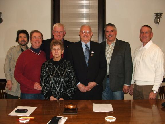 Michael A. Heery/Special to the TIMES NEWS Lehighton Borough Council held a special reorganization meeting on Tuesday. Council members are, from left, John Bird, Darryl Arner, Bessie Bauchspies, Vice President Scott Rehrig, President Grant Hunsicker…