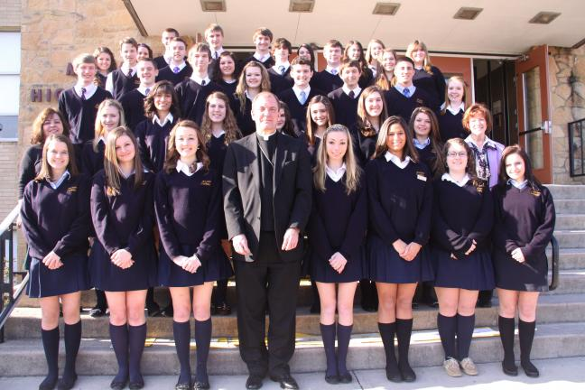 Students at Marian High School were recently inducted into
