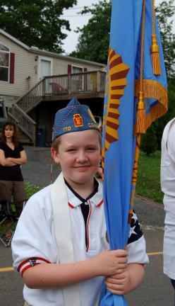 CHRIS PARKER/TIMES NEWS Julian Rickert, 9, stands proud as he holds