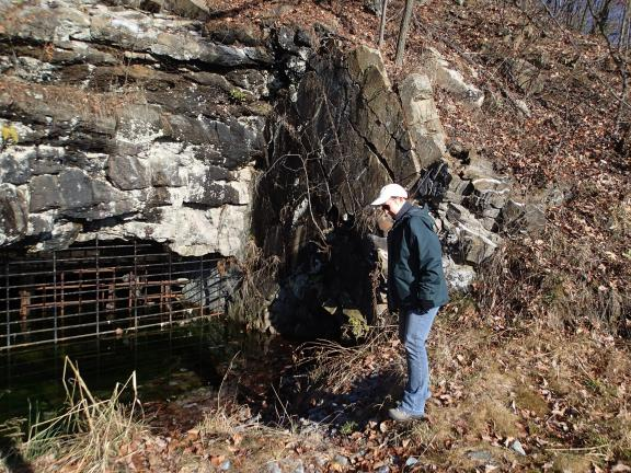 AL ZAGOFSKY/SPECIAL TO THE TIMES NEWS Buck Mountain # 2 Tunnel, the fourth worst Abandoned Mine Drainage into the Lehigh River, is undergoing a mitigation project led by Abigail Pattishall of the Wildlands Conservancy.