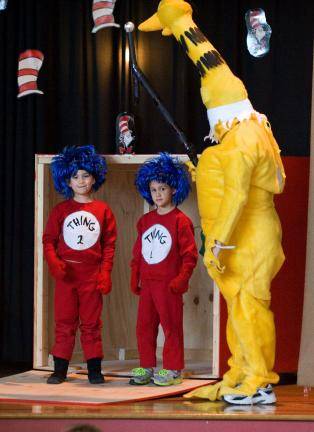 Cat in the Hat can't attend, but the Sneetch was able to perform