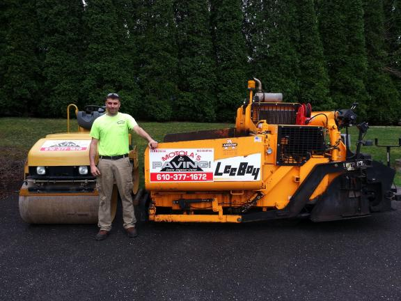 SPECIAL TO THE TIMES NEWS Dante Angelus, owner of Motola's Paving in Lehighton, says most reputable contractors have their vehicles well marked. He said people should beware of gypsies who often have unmarked vehicles or out-of-town addresses.