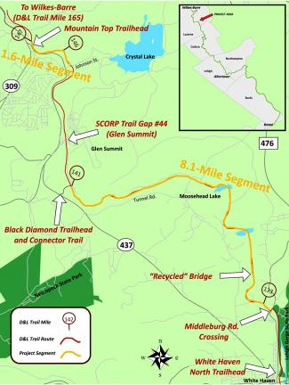 The White Haven North Trailhead connects to Middleburg Road, where along Middleburg Road, the Black Diamond Trail continues, travels over the Recycled Bridge, past Moosehead Lake and ends at mile marker 141 at the Black Diamond Trailhead and…