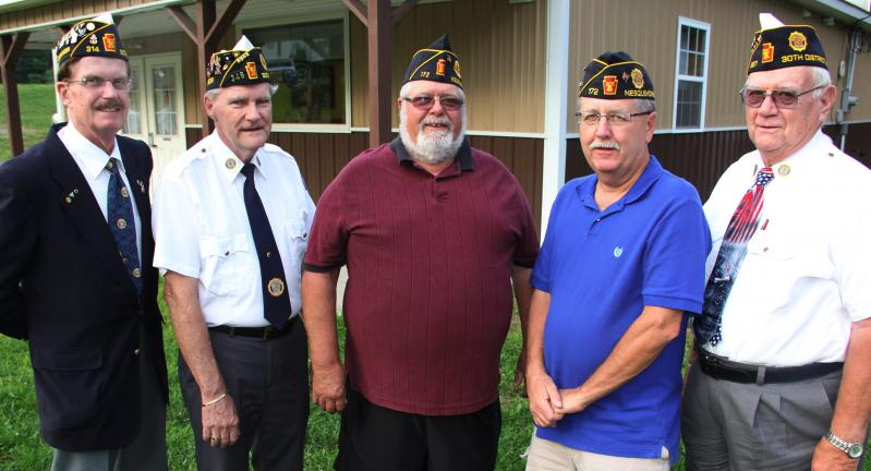 The Nesquehoning American Legion Post 172 held its installation of officers recently at the Weatherly American Legion Post. From left are 30th District Deputy Commander Harry Wynn, 30th District Commander John W. Krebs Sr., post adjutant and service…