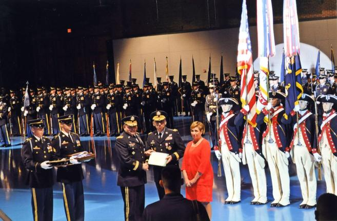Special to the TIMES NEWS  LTG Hernandez receives several commendations from Gen. James Thurman, Commander, United Nations Command, Combined Forces Command/U.S. Forces Korea.