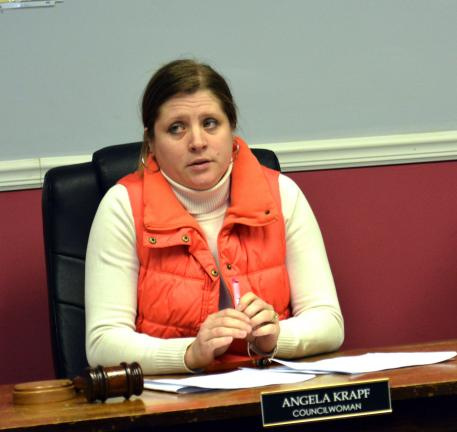 DONALD R. SERFASS/TIMES NEWS Angela Krapf was elected Monday to preside over Coaldale Borough Council in 2014.