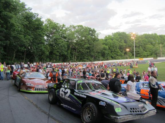 Justin Carlucci/Times News Crowds gather at Mahoning Valley Speedway on Saturday nights.