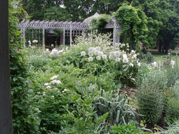 ap photo the white garden at the snug harbor cultural center botanical garden in staten island new york includes white flowering varieties of many - Staten Island Botanical Garden