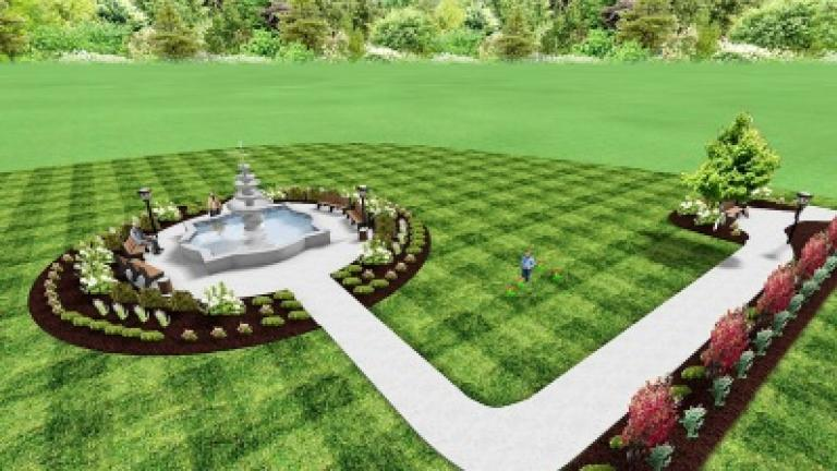An artist's rendering shows the plan for Tamaqua's Depot Park.