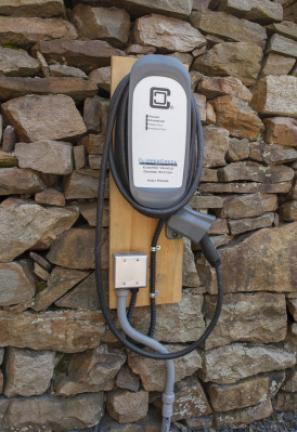 The Times House Bed and Breakfast on Race Street in Jim Thorpe also offers a universal charging station for all types of electric vehicles. BOB FORD/TIMES NEWS