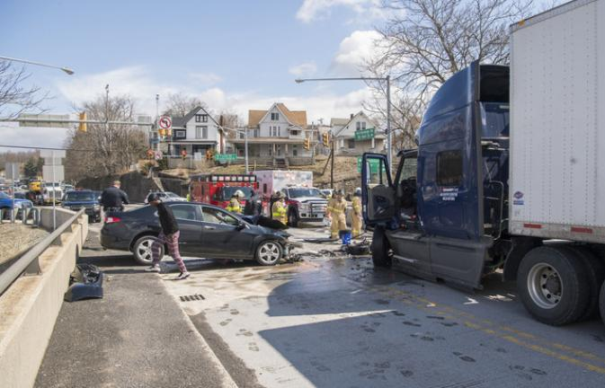 Woman injured in two-vehicle crash at Route 209/248