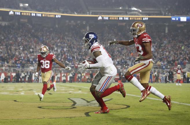 a8077580 Manning's late TD pass leads Giants past 49ers 27-23 | Times News Online