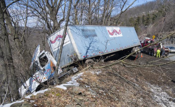 Truck crashes on Route 248 | Times News Online