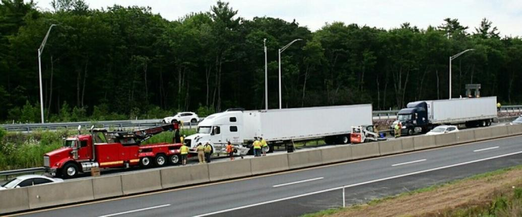 2 trucks collide on turnpike, causing fuel spill | Times
