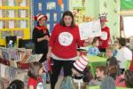 """Second-grade teacher Melisa Beahn reads Dr. Seuss's """"Bartholomew and the Oobleck"""" to a group of students at S.S. Palmer in Palmerton on Thursday afternoon. Thursday was the National Education Association's Read Across America Day, along with Seuss'…"""