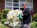 DONALD R. SERFASS/TIMES NEWS After losing 132 pounds in just six months, Nancy Meiser of Ginthers can once again perform gardening duties and enjoy advantages of improved health.