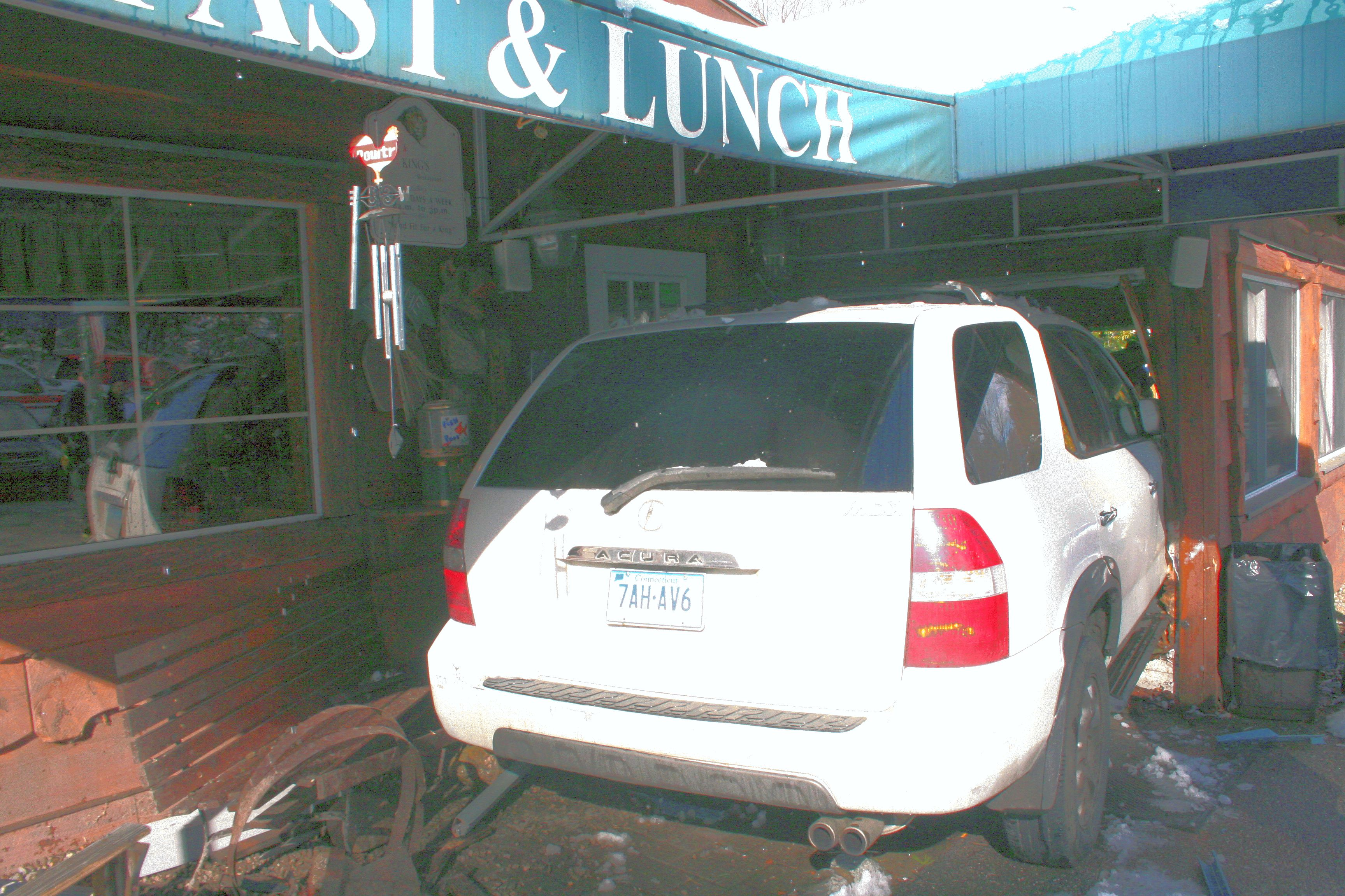 SUV Crashes Into Restaurant As Patrons Dine | The Newtown Bee