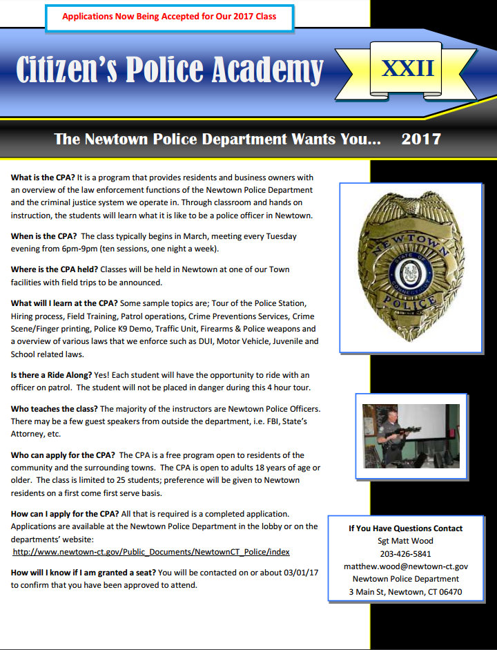 Citizen Police Academy Highlights Law Enforcement