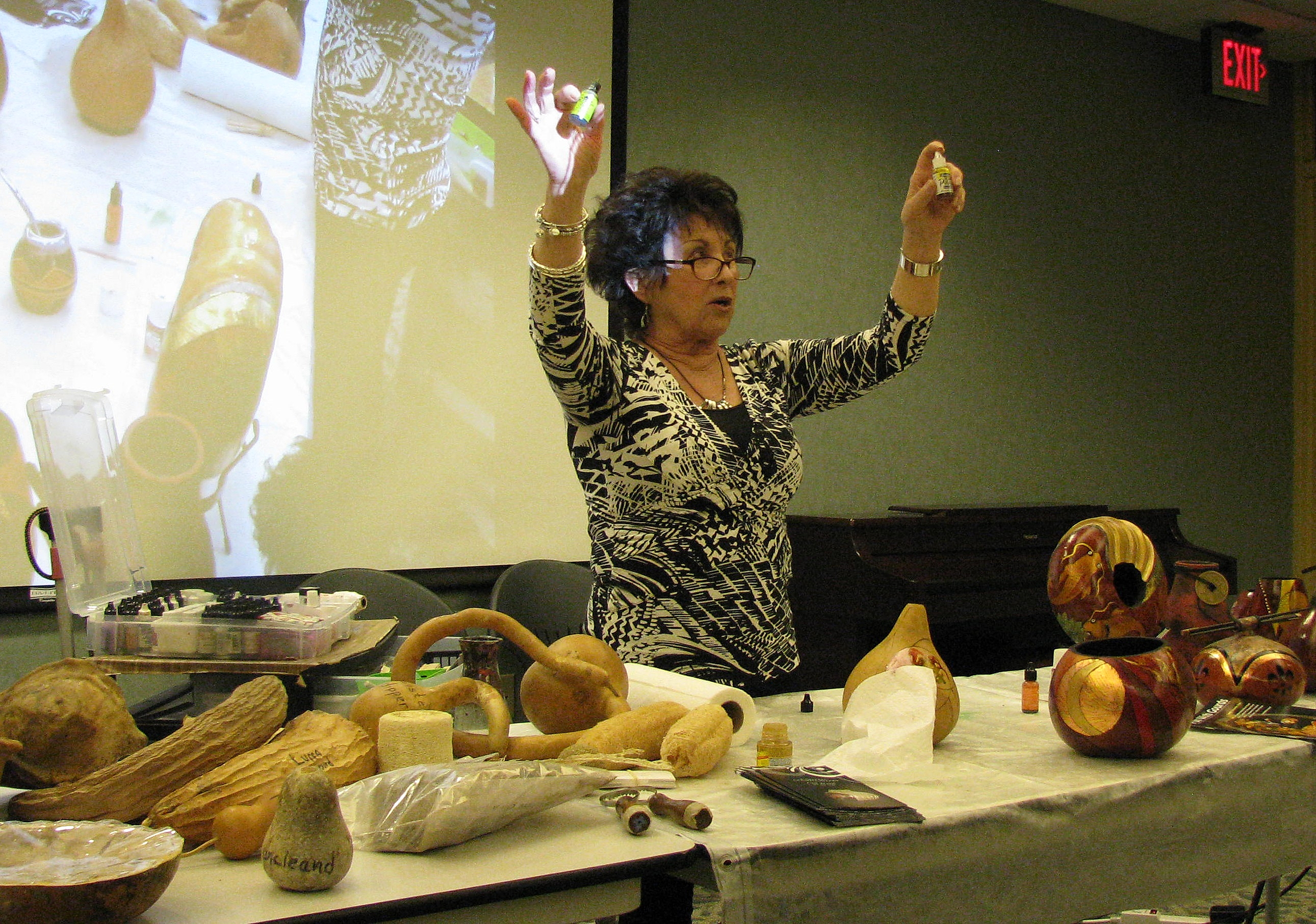 The Gourd As Art Medium, At Town & Country Garden Club Meeting | The ...