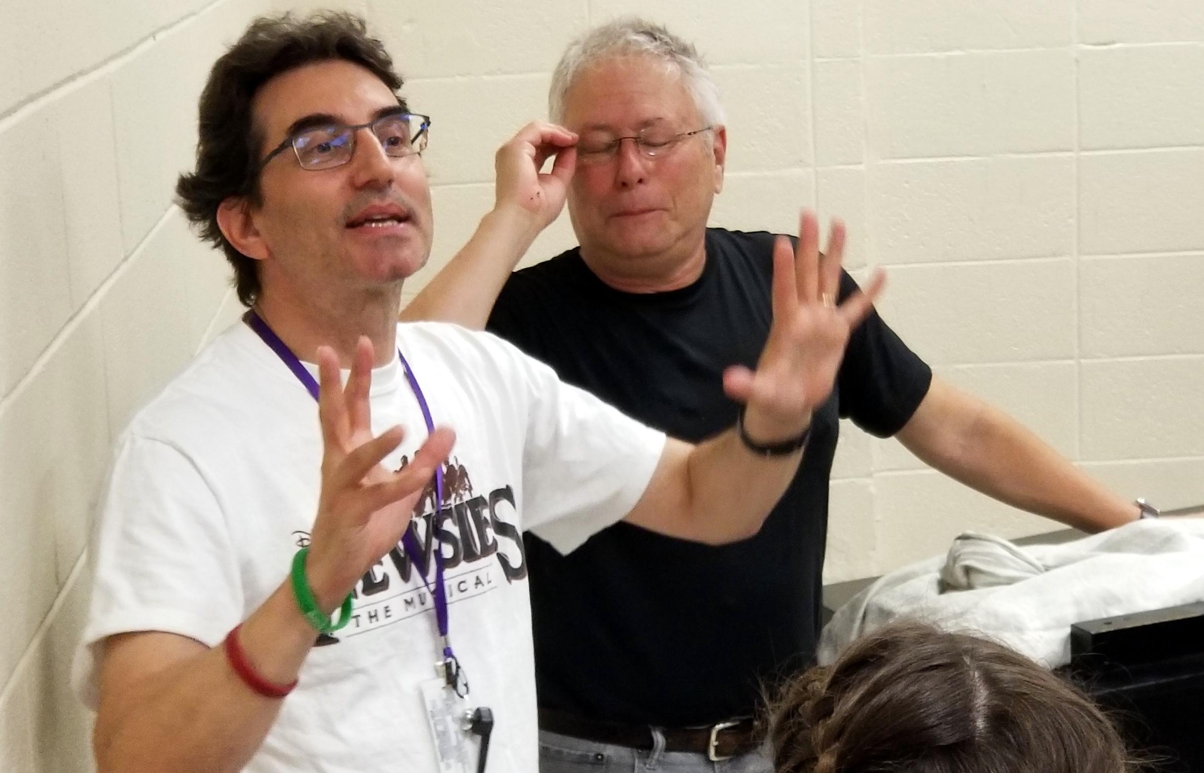 Newsies' Composer Alan Menken Drops In On NewArts Cast   The Newtown Bee