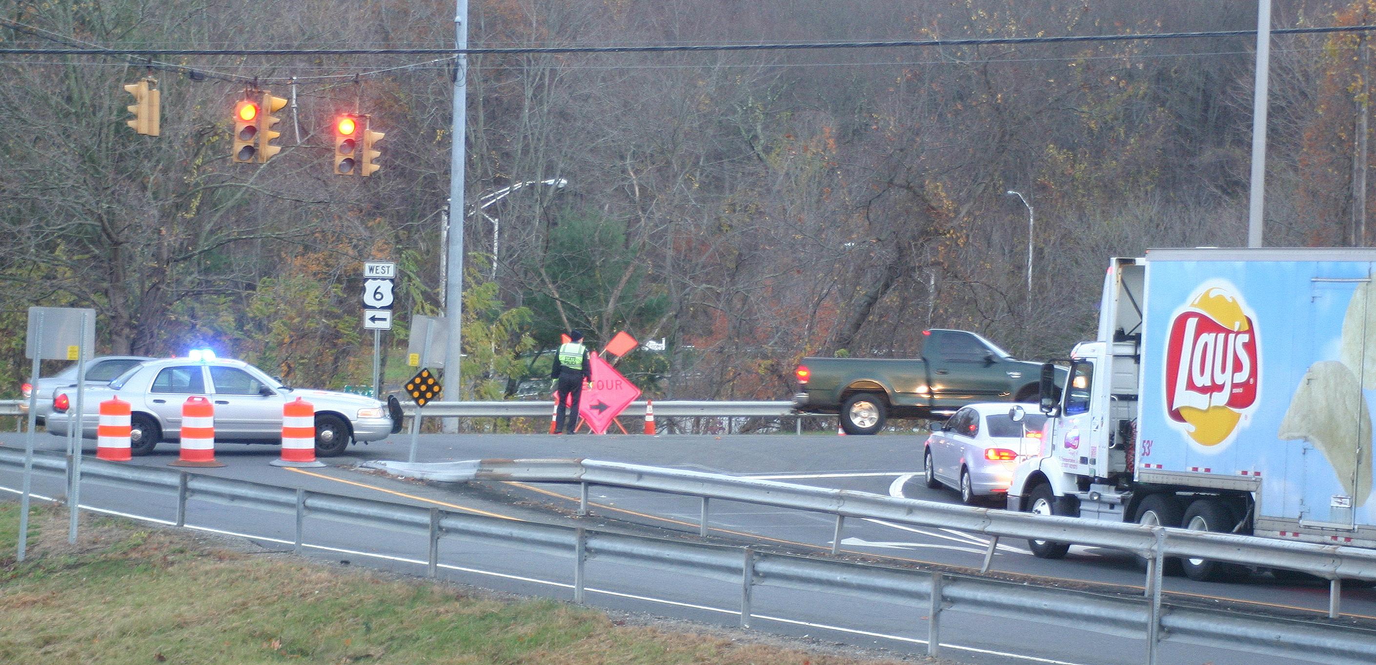 Fatal Tractor-Trailer Crash Closes I-84, Creates Local Traffic Snarl