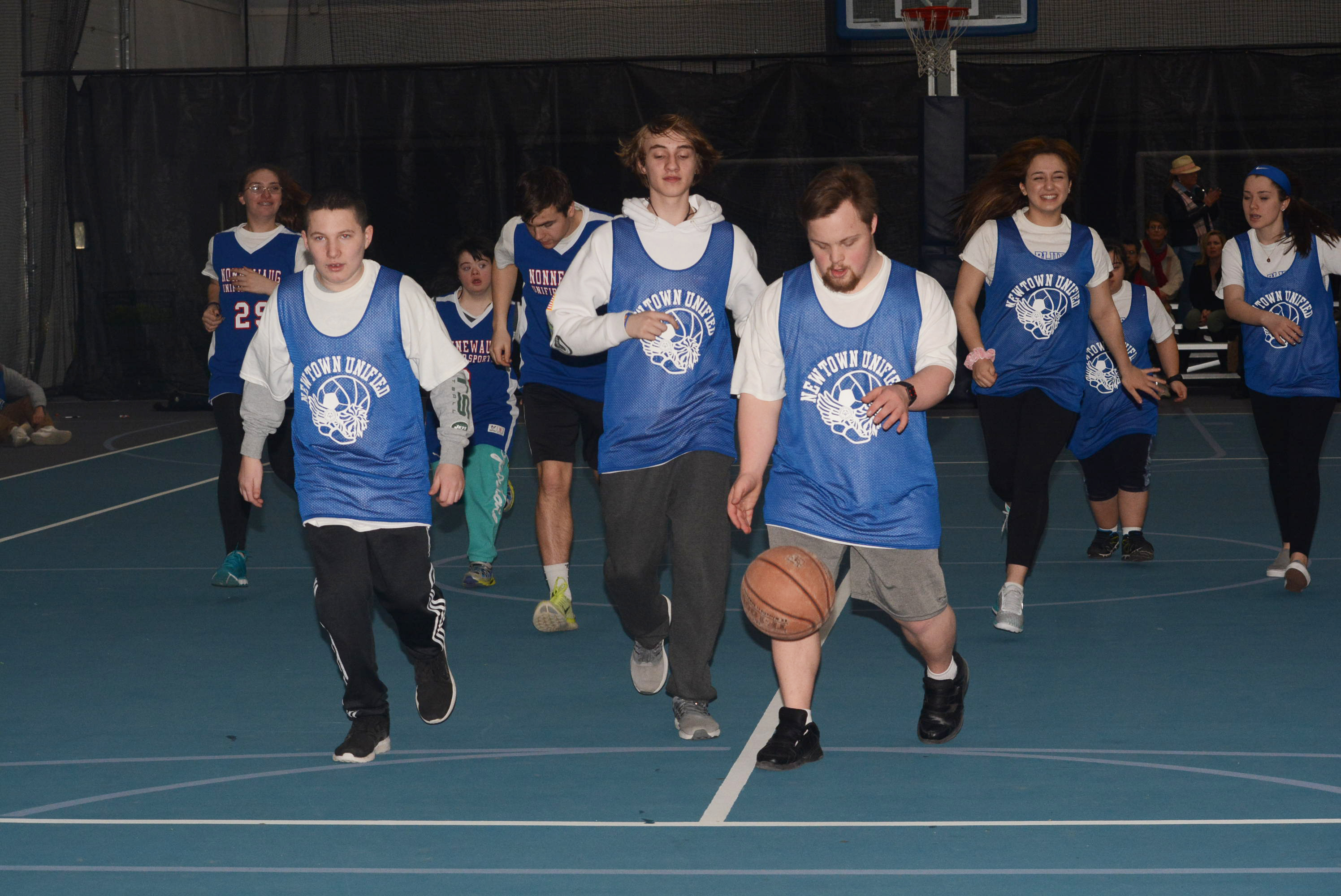 Newtown Highs Unified Sports Basketball Team Members Are Enjoying A Fun Filled Experience On The Court This Winter Bee Photo Hutchison