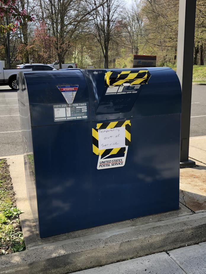 commerce road usps collection box vandalized