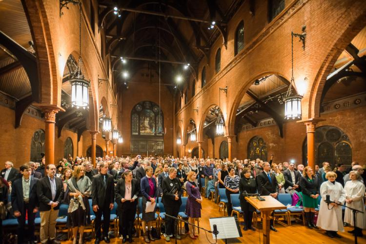 St Mark's Episcopal Church in Washington, DC, was packed with attendees, including dozens who traveled from Newtown on December 6 to be part of the 5th Annual National Vigil for All Victims of Gun Violence.  (photo courtesy Newtown Action Alliance)