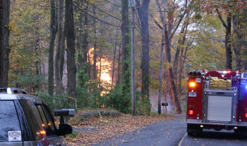Flames from a ruptured natural gas line shot up into the air about 30 feet in the front yard of a residential property at 55 Cedar Hill Road on the morning of Tuesday, October 24. Residents within a 1,000-foot radius of the fire were informed to…