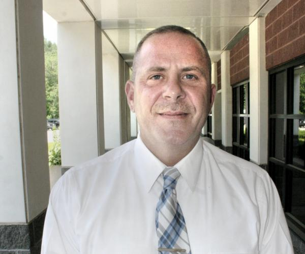 Garner Correctional Institution Warden Anthony J. Corcella is seen near the main entrance to the high-security prison at 50 Nunnawauk Road. Warden Corcella is the eighth person to lead the facility, which opened in 1992.   (Bee Photo, Gorosko)