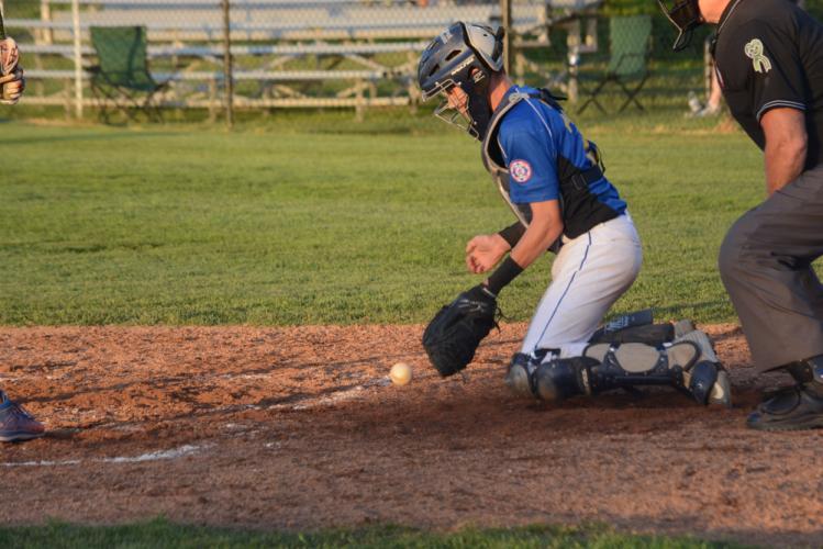 Freddie Hubbard blocks the ball. (Bee Photo, Hutchison)